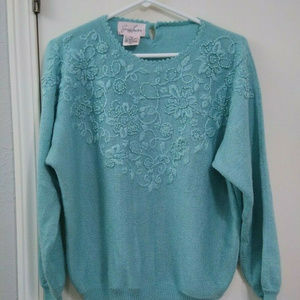 Jaclyn Smith Pullover Sweater Batwing Sleeve